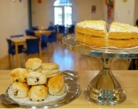 Photo of cakes and scones in Newhaven Connections Cafe