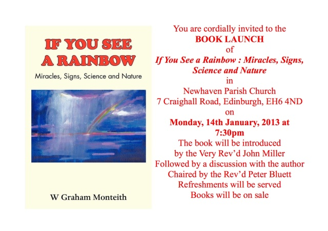 If you see a rainbow - Book Launch flyer