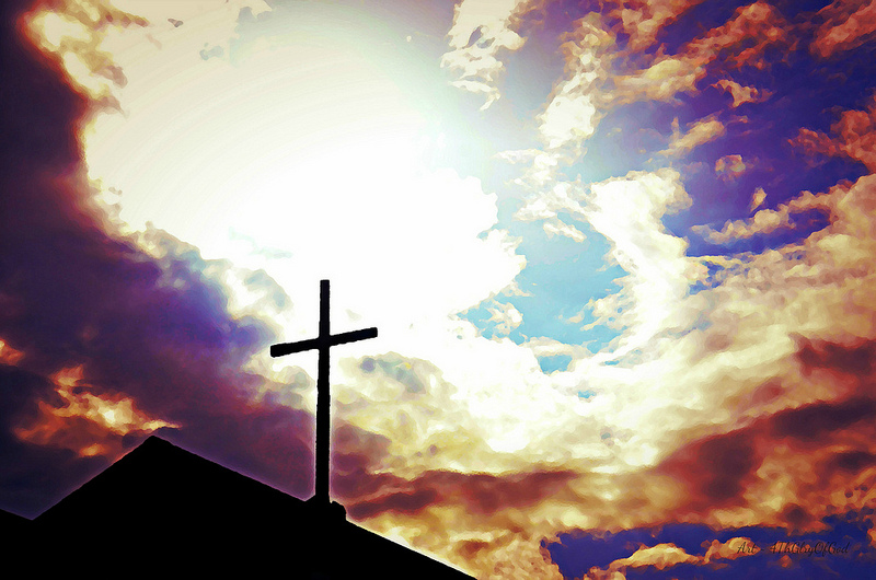 Image of silhouette of crucifix