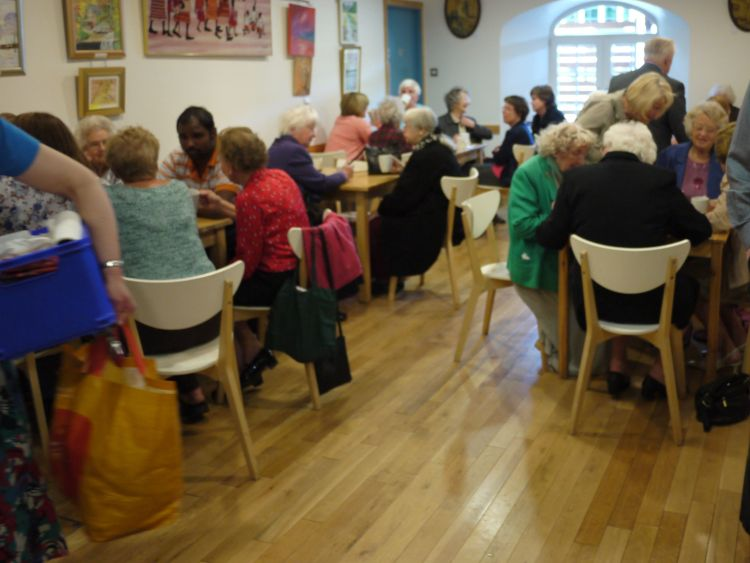 People eating and drinking in Newhaven Connections Cafe