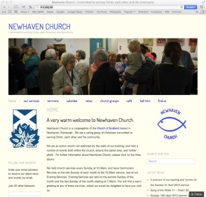 Screenshot of our website