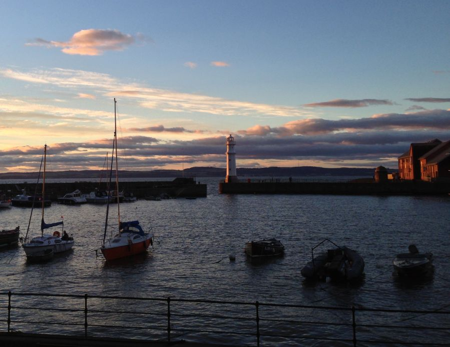 Photo of Newhaven Harbour at sunset