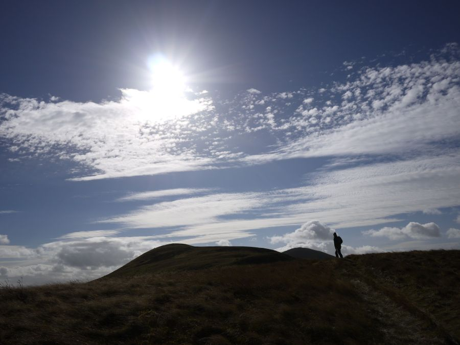 Image of person walking up Pentlands