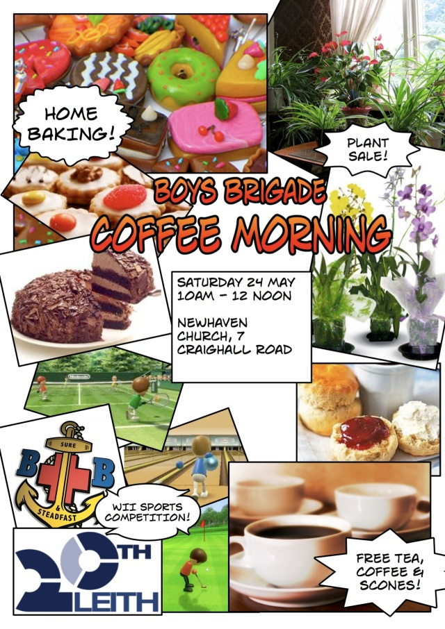 Boy's Brigade coffee morning 2014 flyer
