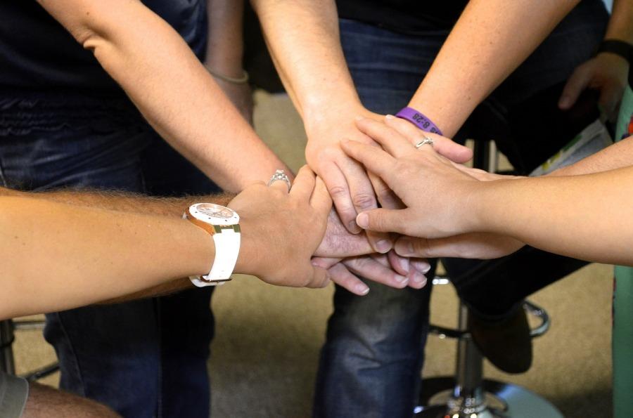 Hands held together in prayer