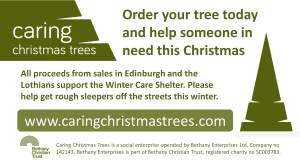Caring Christmas Trees slide - 16-9 format - Edinburgh December 2015